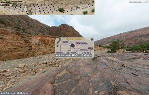 Visite interactive virtuelle à 360° d'un site archéologique